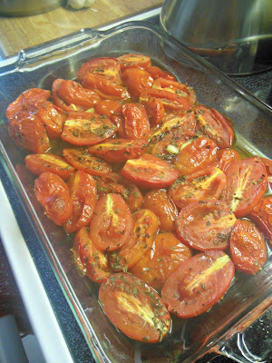 Oven Roasted Tomatoes, for Sauce now, or future meals!