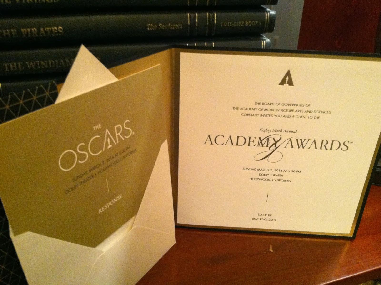 home food garden my academy award invitation