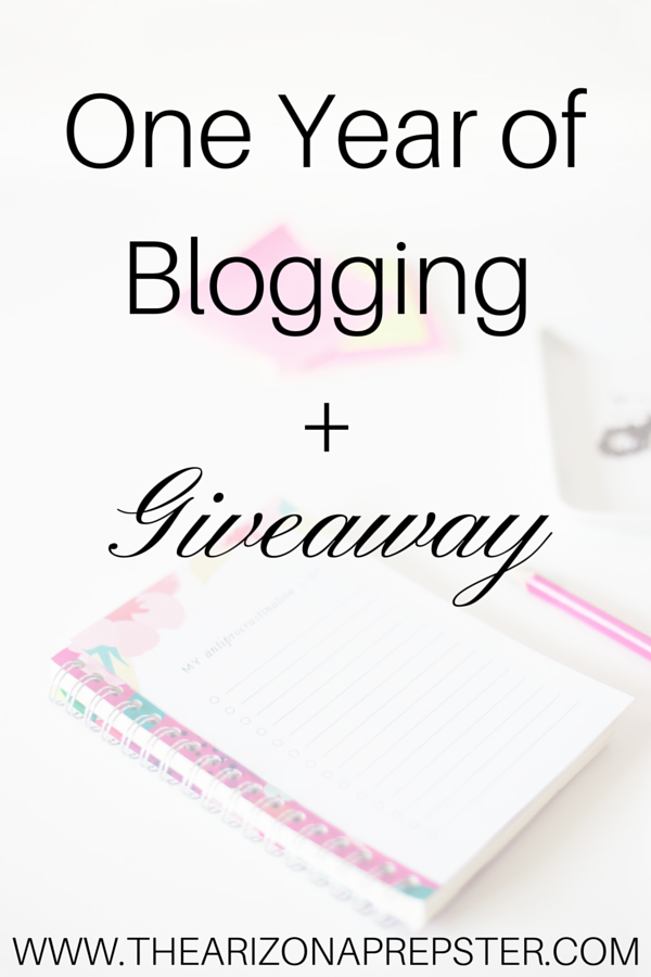 One Year of Blogging + Giveaway!