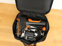 DigHealth 電動エアコンプレッサー付属の収納袋が便利です。全ての付属品を収納できます。