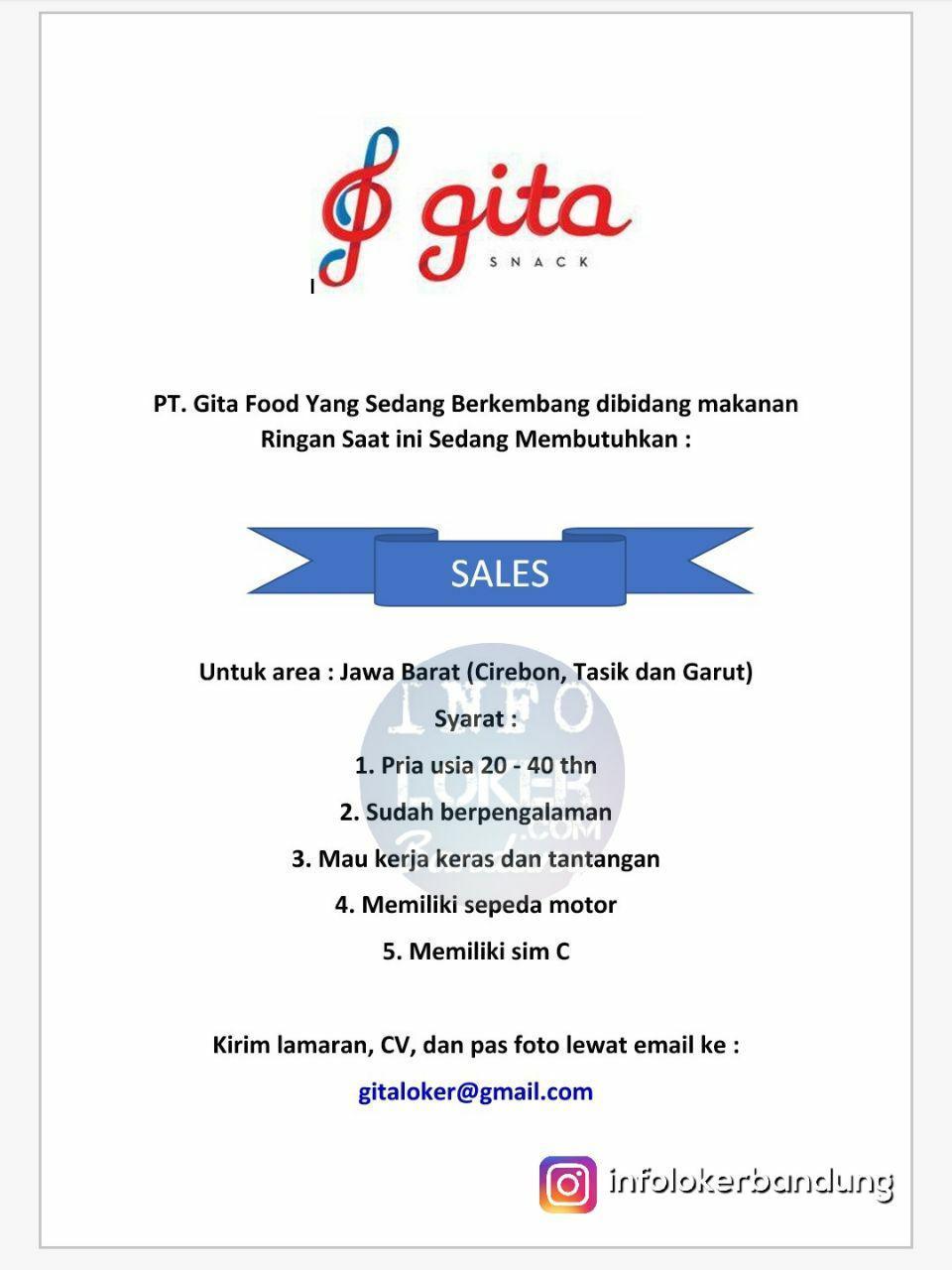 Lowongan Kerja PT. Gita Food Januari 2018