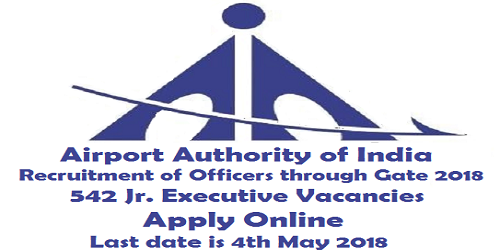 AAI junior Executive officer Recruitment through GATE 2018