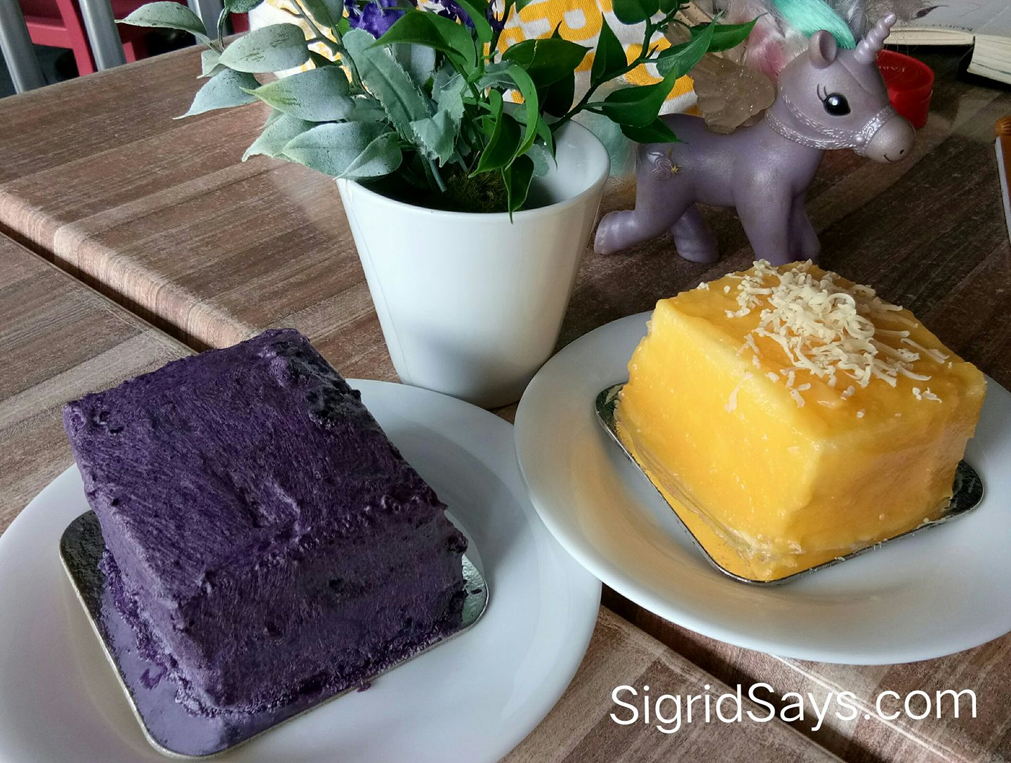 Nonna's Kitchen ube cake - Bacolod cafe