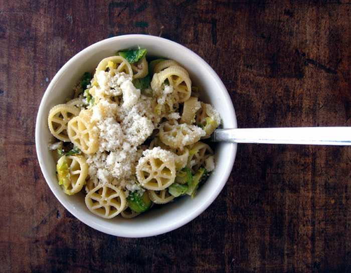 Just the Ticket: Pasta with Lemony Brussels Sprouts   Poppytalk
