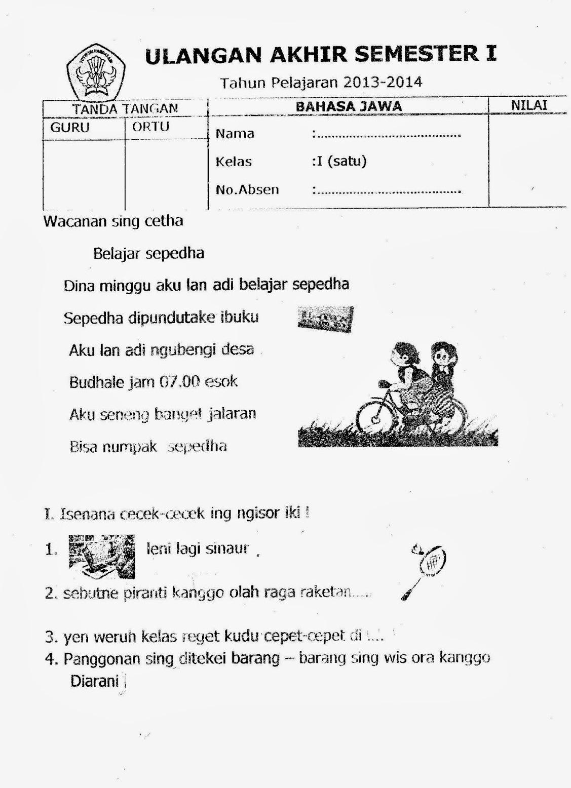 Latihan Soal Bahasa Jawa Guru Galeri