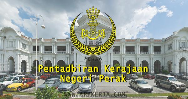 Iklan Jawatan Kosong Pentadbiran Kerajaan Negeri Perak 2018 - 31 Oktober 2018