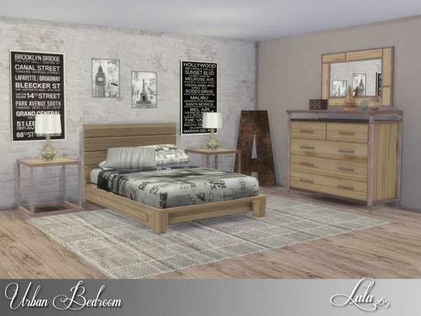 My Sims 4 Blog Urban Bedroom Set By Lulu265