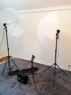 A simple light set will improve your blog photos and videos tremendously.  Lighting set, lighting for blog photos and videos for a blog or social media