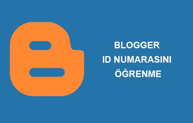 Blogger ID Numarasını Öğrenme
