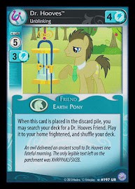 My Little Pony Dr. Hooves, Unblinking Premiere CCG Card