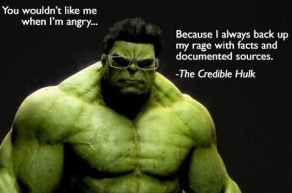 funny picture image joke - credible hulk