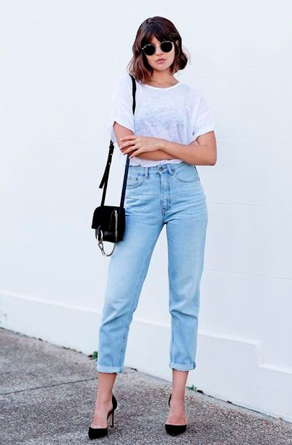 outfit casual jeans e tacchi jeans e t-shirt mariafelicia magno fashion blogger colorblock by felym fashion bloggers Italy casual outfits