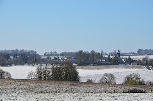 Fontenouilles sous la neige
