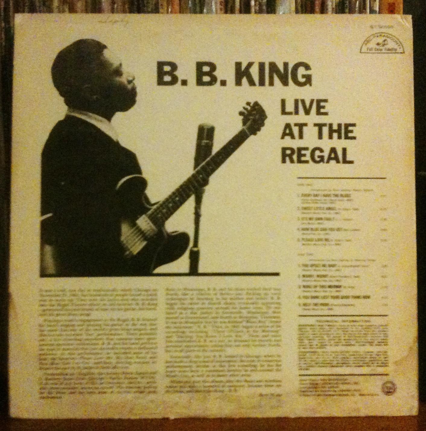 Modern Jazz Aficionado B B King Live At The Regal