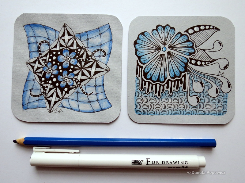 Zentangle - niebieska seria