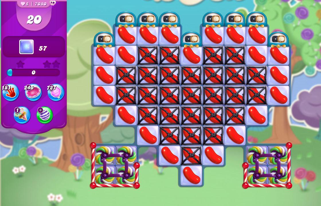 Candy Crush Saga level 7080