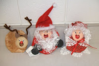 Caroling crushed can ornaments