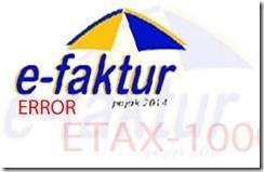 Solusi e-Faktur Kode Error ETAX-10001 Error Database