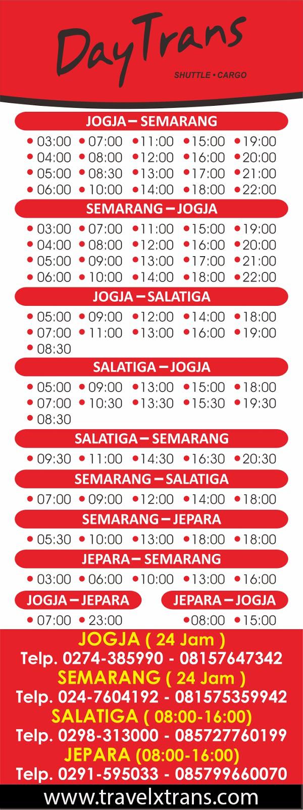 Jadwal Day Trans Jogja Semarang