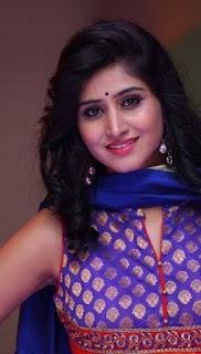 Shamili In Blue Churidar Salwar kameez At Big Bazaar (7)