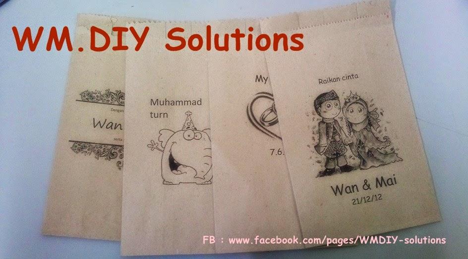 Wedding Door Gift Murah: WM.DIY Paper Bag: Tempahan Printed Paper Bag Untuk Door