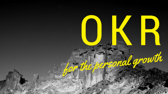 OKR for the personal growth