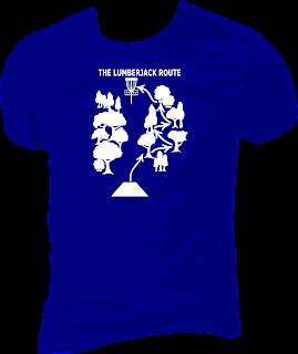 Disc Golf Shirt The Lumberjack Route