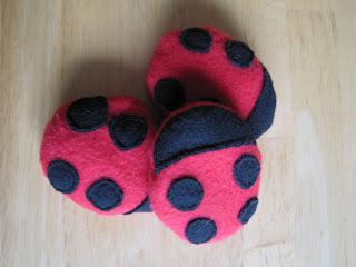 Made By Mama Bear Ladybug Bean Bags