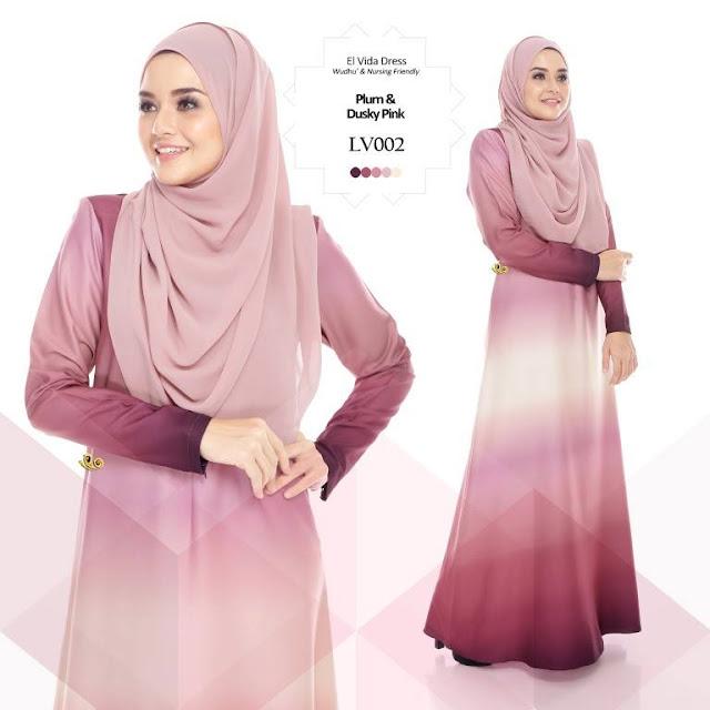 Jubah Dress El Vida cantik LV002 cantik murah 2016
