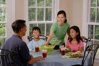 This is a picture representing a family spending time together