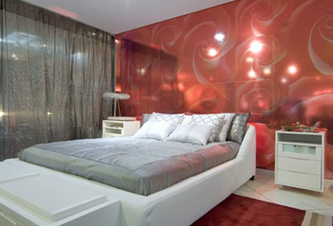 Double bedroom red white and grey bedroom decorating ideas Master bedroom with red bedding