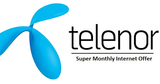 Telenor Super Monthly Internet Offer Get 5GB+150 Balance for Rs. 350