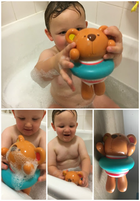 Little Splashers Swimmer Teddy Bath Toy & Pop Up Teddy Shower Buddy