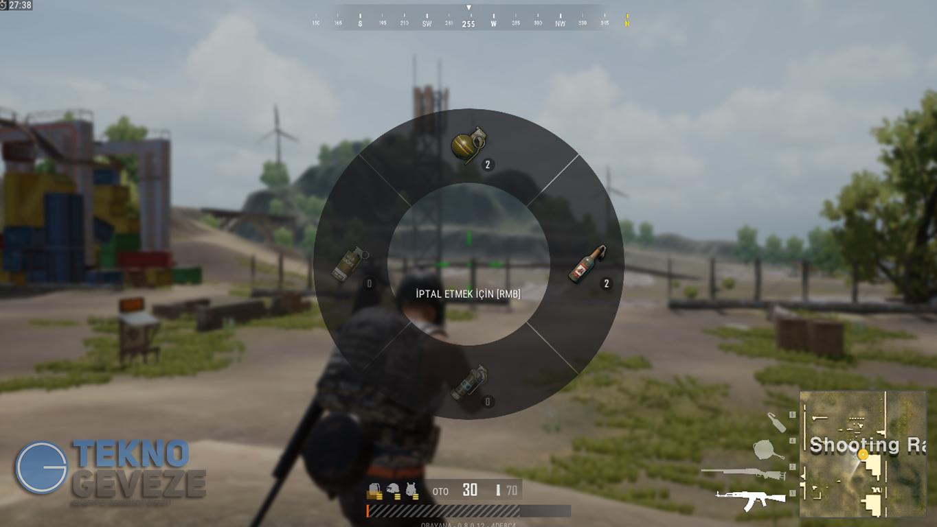 PUBG Lite PC Hızlı Silah Seçme Menüsü