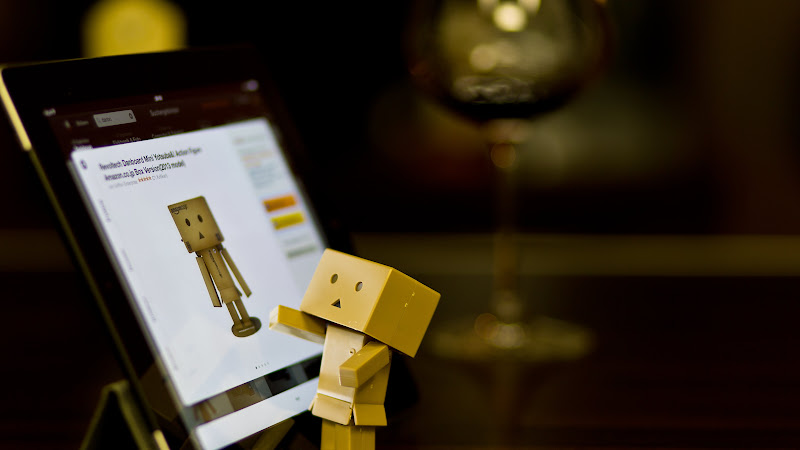 Technology: Danbo with Tablet