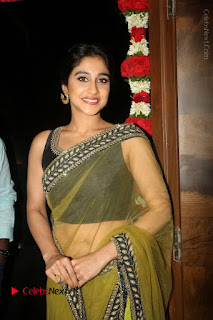 Actress Regina Stills in Green Saree at Vivaha Bhojanambu Restaurant Launch  0097.JPG