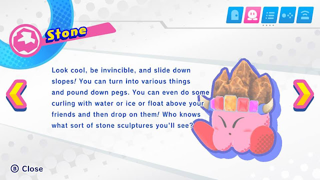 Kirby Star Allies Stone Kirby Copy Ability description