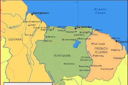 Suriname Map