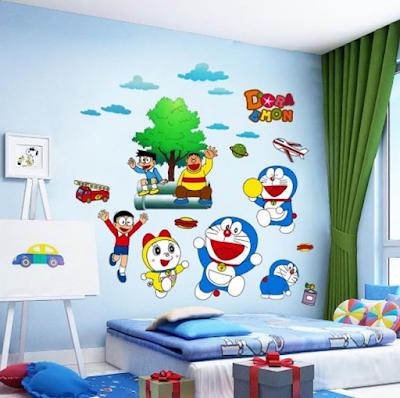 dekorasi kamar doraemon sederhana terbaru