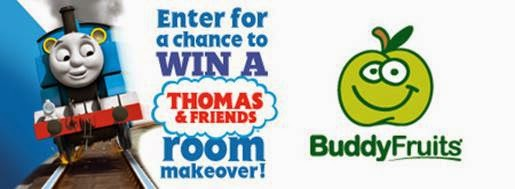 Enter to win a Thomas & Friends Room Makeover from Budy Fruit!