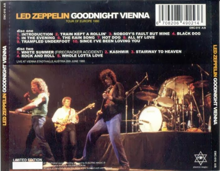 The Clock That Went Backwards: Led Zeppelin - 1980-06-26