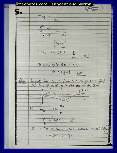 Tangent and Normal Notes1