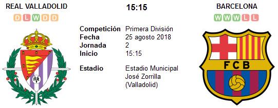 Real Valladolid vs Barcelona en VIVO
