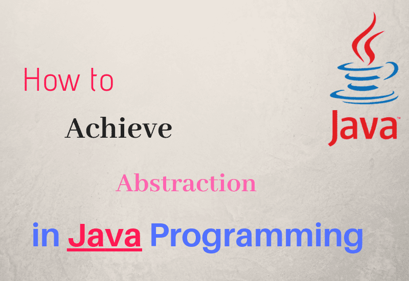 abstraction in oop java