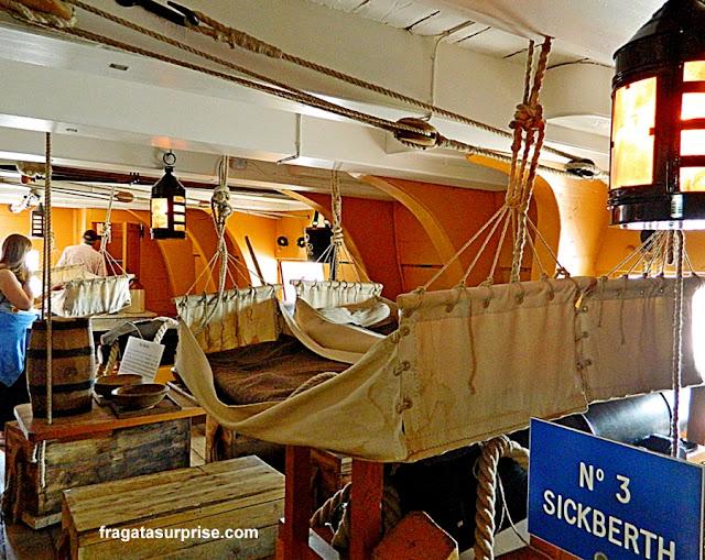 Enfermaria do navio HMS Victory, do almirante Nelson