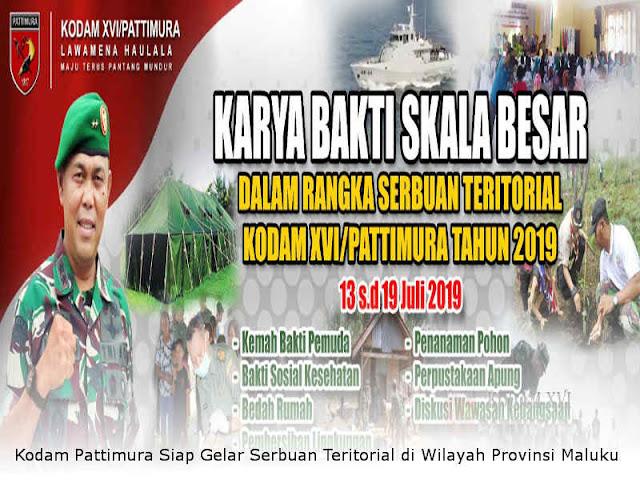 Kodam Pattimura Siap Gelar Serbuan Teritorial di Wilayah Provinsi Maluku