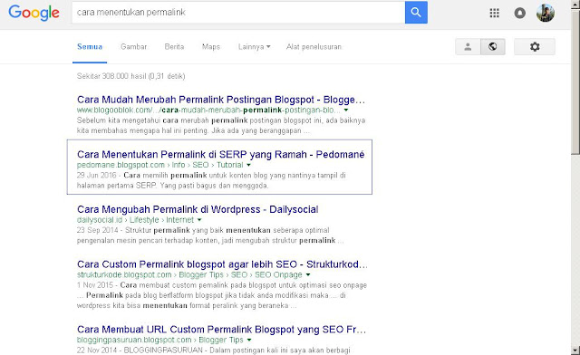 permalink seo on page