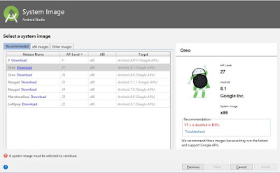 System Image Android Studio