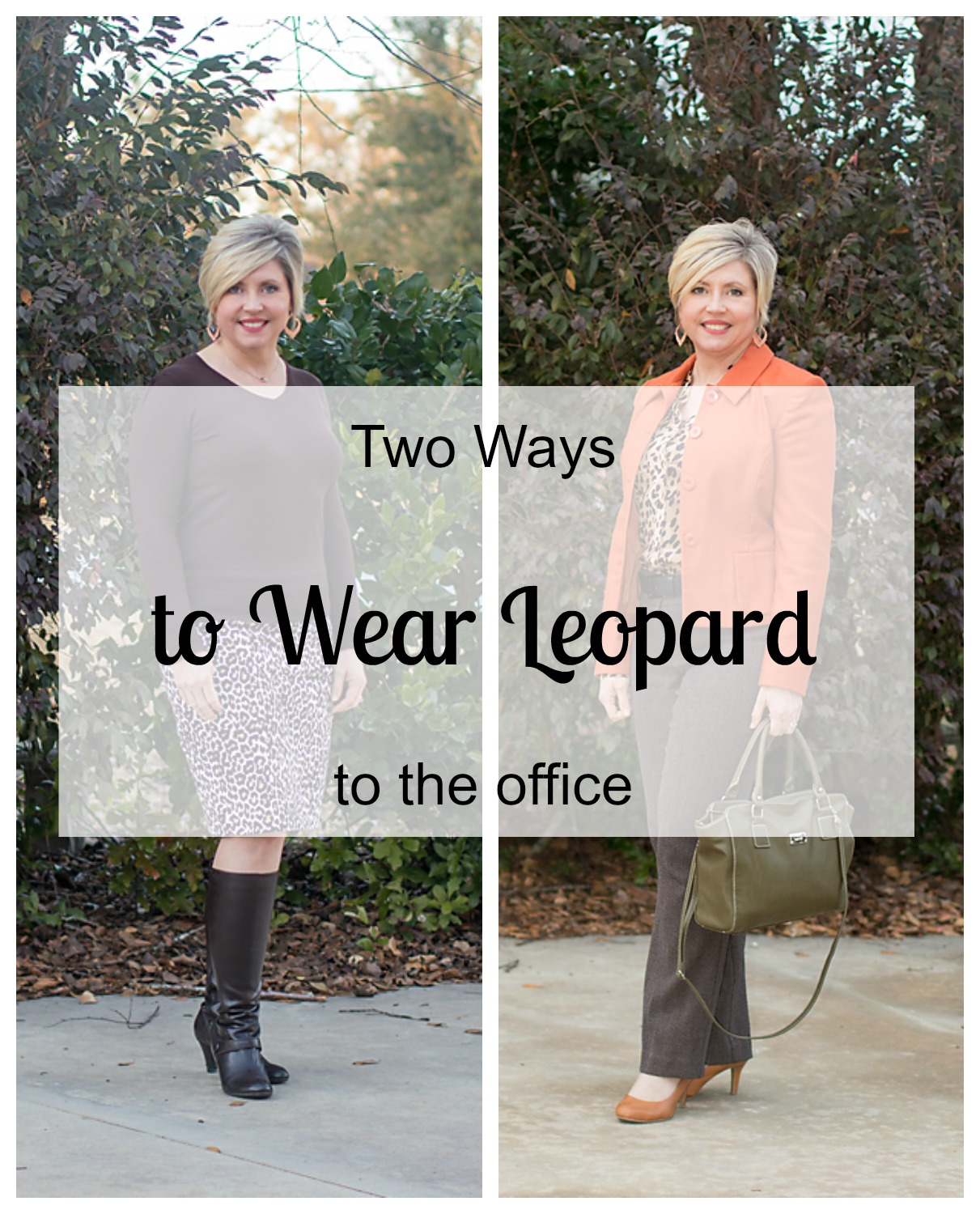 2 ways to wear leopard print to the office, leopard print, office outfits