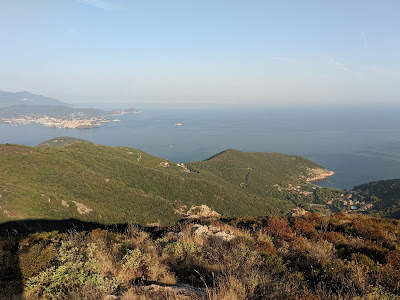 View looking west, over Nisporto from Monte Strega.